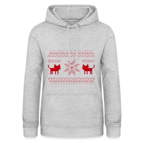 Christmas Cats - Sudadera con capucha para mujer