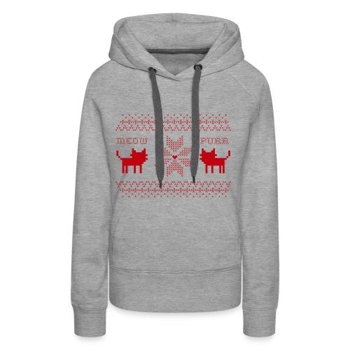 Christmas Cats - Sudadera con capucha premium para mujer