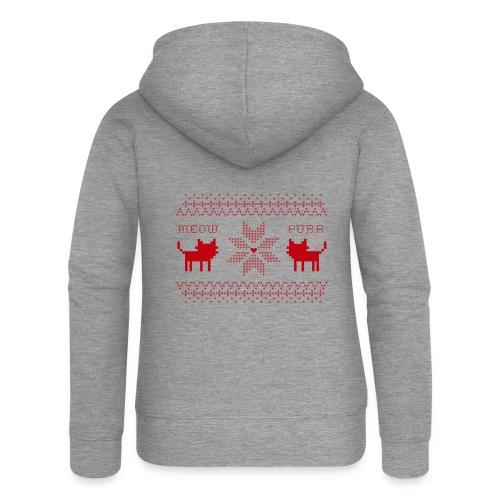 Christmas Cats - Chaqueta con capucha premium mujer