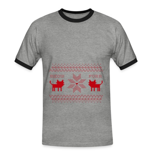 Christmas Cats - Camiseta contraste hombre