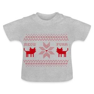 Christmas Cats - Camiseta bebé