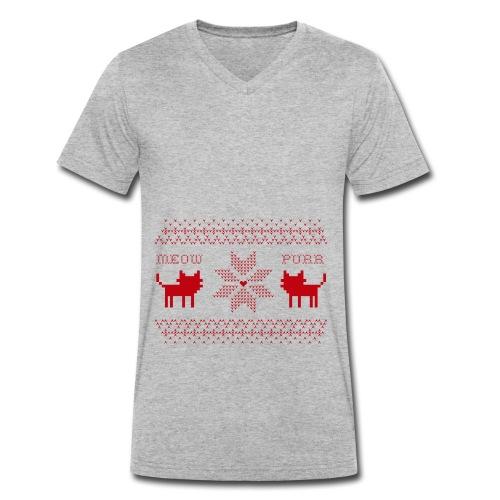 Christmas Cats - Camiseta ecológica hombre con cuello de pico de Stanley & Stella