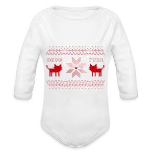 Christmas Cats - Body orgánico de manga larga para bebé