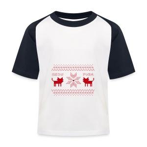 Christmas Cats - Camiseta béisbol niño
