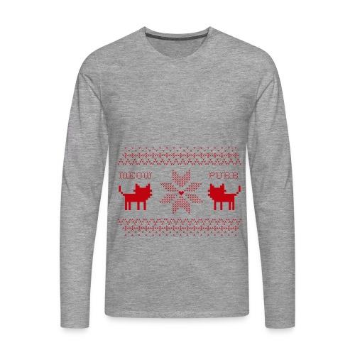 Christmas Cats - Camiseta de manga larga premium hombre