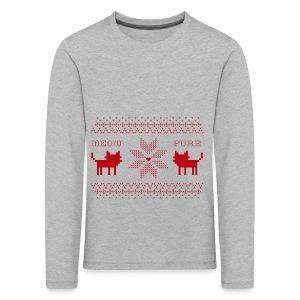 Christmas Cats - Camiseta de manga larga premium niño