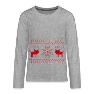 Christmas Cats - Camiseta de manga larga premium adolescente