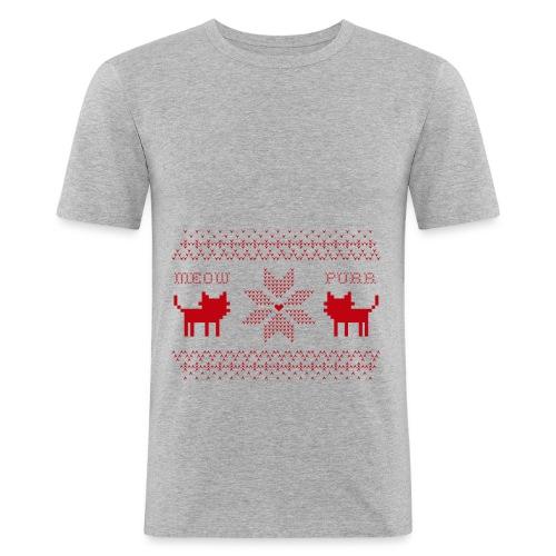 Christmas Cats - Camiseta ajustada hombre