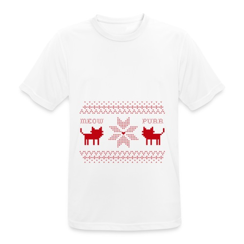 Christmas Cats - Camiseta hombre transpirable