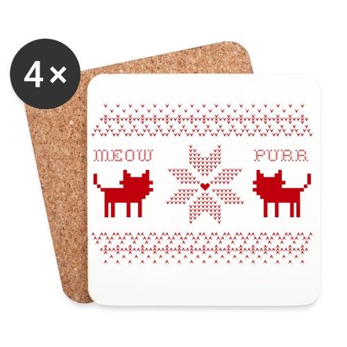 Christmas Cats - Posavasos (juego de 4)