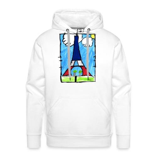 T-Shirt Homme Peace & Paris Tour Eiffel - Sweat-shirt à capuche Premium pour hommes
