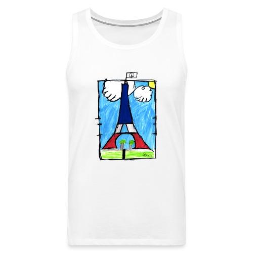 T-Shirt Homme Peace & Paris Tour Eiffel - Débardeur Premium Homme