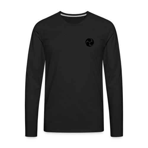 Odaiko-Trommlerin Kaputzenpulli - Männer Premium Langarmshirt