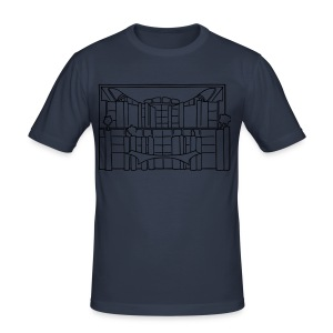 Chancellery in Berlin (gold) - Men's Slim Fit T-Shirt