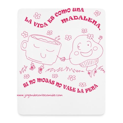 La vida es como una Madalena... - Alfombrilla de ratón (vertical)