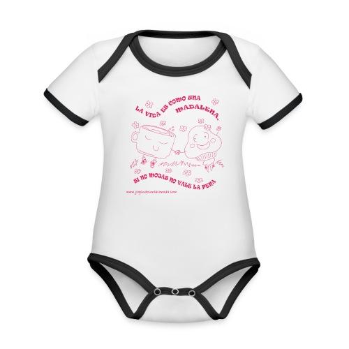 La vida es como una Madalena... - Body contraste para bebé de tejido orgánico