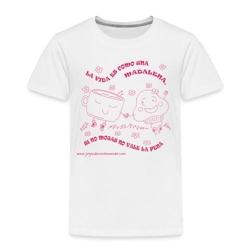 La vida es como una Madalena... - Camiseta premium niño