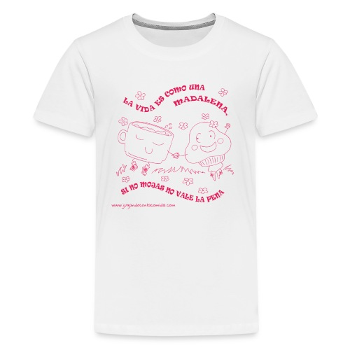 La vida es como una Madalena... - Camiseta premium adolescente