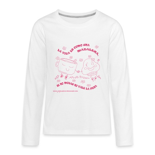 La vida es como una Madalena... - Camiseta de manga larga premium adolescente