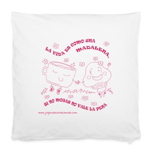 La vida es como una Madalena... - Funda de almohada 40 x 40 cm