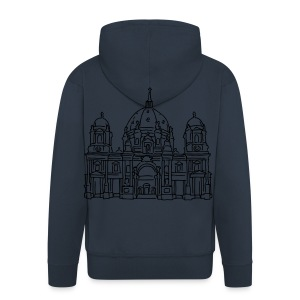 Berlin Cathedral (gold) - Men's Premium Hooded Jacket
