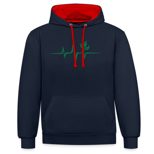 Vegbeat Vegan Runners - Contrast Colour Hoodie