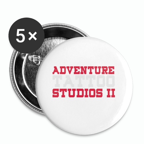 Adventure Tattoo Panoramic Mug - Buttons small 1''/25 mm (5-pack)