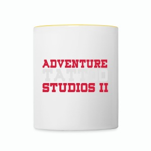 Adventure Tattoo Panoramic Mug - Contrasting Mug