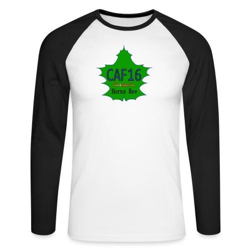 Coffee16 - logo - Langærmet herre-baseballshirt