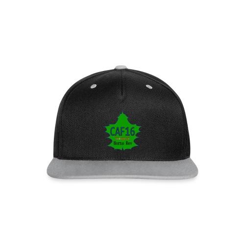 Coffee16 - logo - Kontrast snapback cap