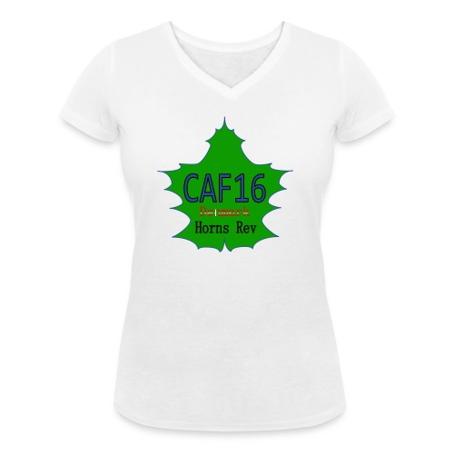 Coffee16 - logo - Økologisk Stanley & Stella T-shirt med V-udskæring til damer