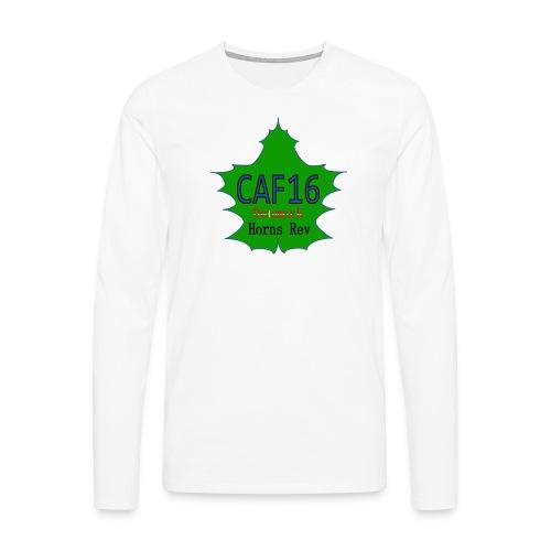 Coffee16 - logo - Herre premium T-shirt med lange ærmer