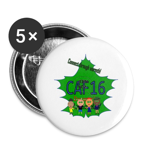 Coffee16 - logo and patrole - Buttons/Badges stor, 56 mm (5-pack)