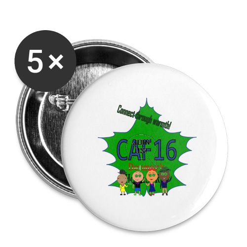 Coffee16 - logo and patrole - Buttons/Badges mellemstor, 32 mm (5-pack)