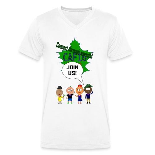 Coffee16 - logo and patrole - Økologisk Stanley & Stella T-shirt med V-udskæring til herrer