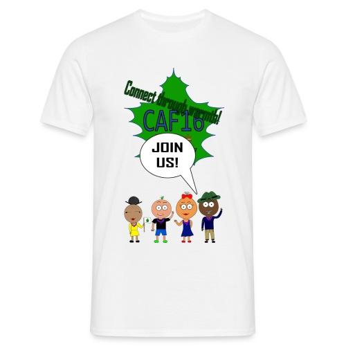 Coffee16 - logo and patrole - Herre-T-shirt