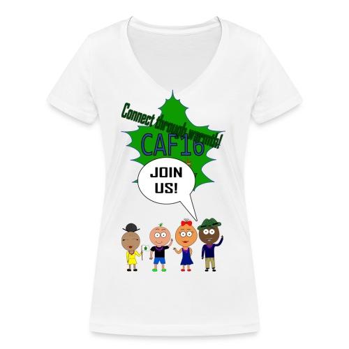Coffee16 - logo and patrole - Økologisk Stanley & Stella T-shirt med V-udskæring til damer