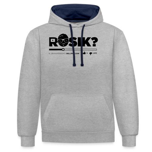 ROSIK tshirt - Felpa con cappuccio bicromatica