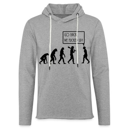Freizeitshirt Evolution - Leichtes Kapuzensweatshirt Unisex