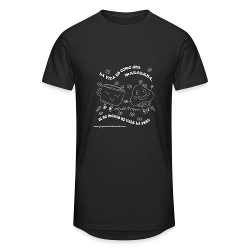La vida es como una Madalena... - Camiseta urbana para hombre