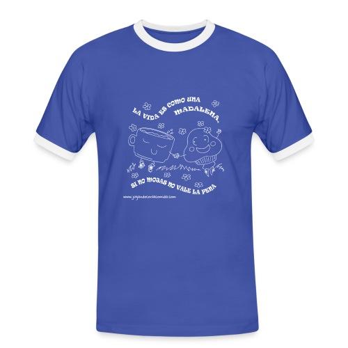 La vida es como una Madalena... - Camiseta contraste hombre