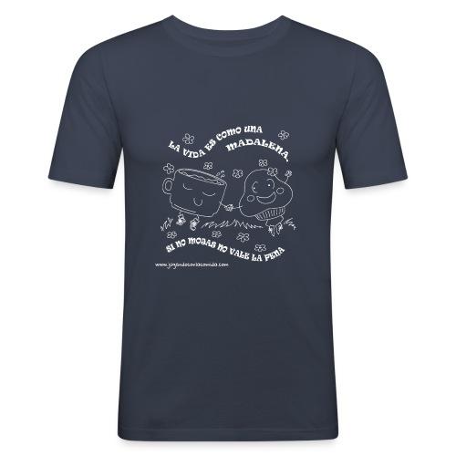 La vida es como una Madalena... - Camiseta ajustada hombre