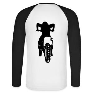 Motocross Start Flock HQ - Männer Baseballshirt langarm