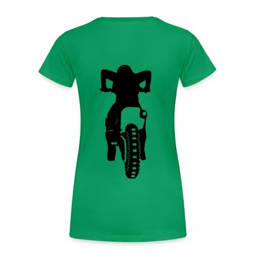 Motocross Start Flock HQ - Frauen Premium T-Shirt