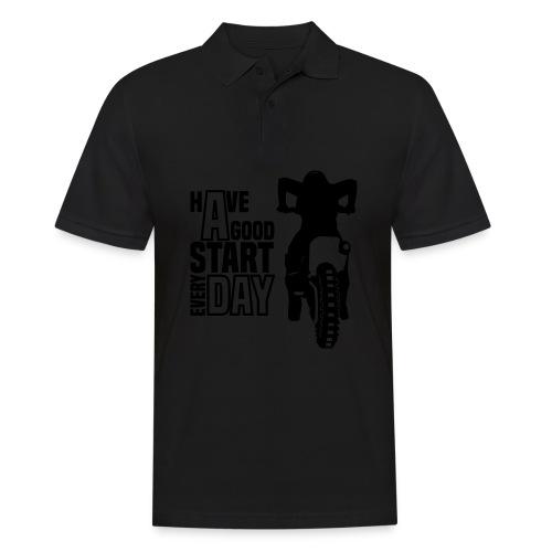 Motocross Start - Männer Poloshirt