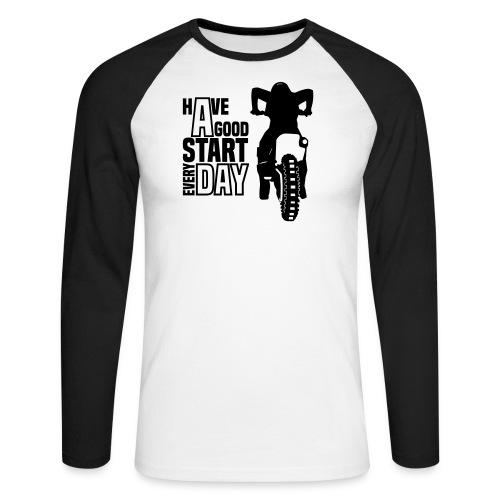 Motocross Start - Männer Baseballshirt langarm