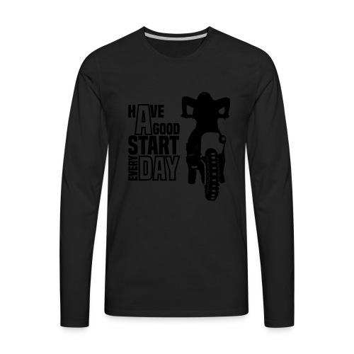 Motocross Start - Männer Premium Langarmshirt