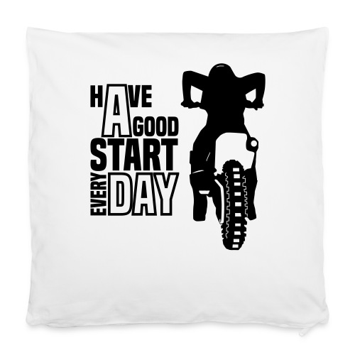 Motocross Start - Kissenbezug 40 x 40 cm