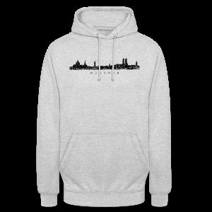 München Skyline (Vintage/Schwarz) S-5XL T-Shirt - Unisex Hoodie