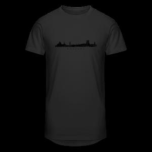 München Skyline (Vintage/Schwarz) S-5XL T-Shirt - Männer Urban Longshirt